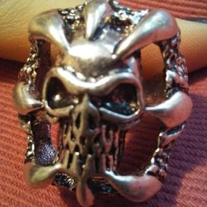🍒3/$30 New Heavy Metal Skull Scales Claws Ring
